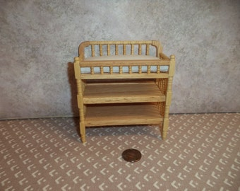 1:12 scale Dollhouse Miniature Oak Changing Table