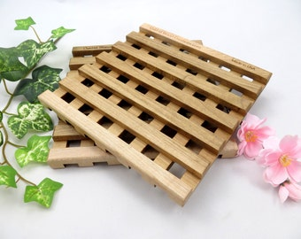 Maple Trivet Set, Wooden, Waffle Design, Centerpiece Set, Dining and Serving, Hot Plate, Maple Wood, Wall Art, Kitchen Decor, Great Gift