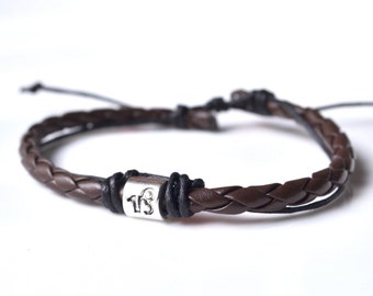 Brown leather silver Capricorn
