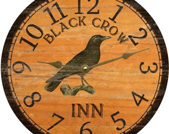 Crow Clock-Black Crow Inn Clock