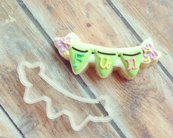 Fun Banner Cookie Cutter.