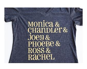 Friends TV Show Shirt ; Ross and Rachel ; Custom Shirt ; Women's Apparel with Quote
