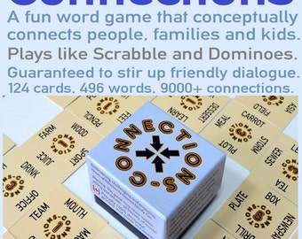 Educational Word Game  - Connections - 496 Words - Tabletop Card Game - Ideal for Home, School, Fundraising!
