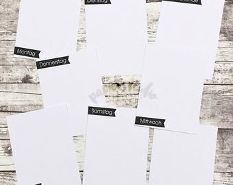 008 - Wochentage - Kartenset