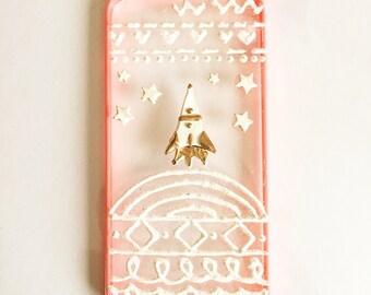 Cute spaceship iphone 6 plus case