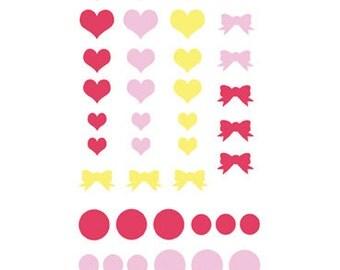 Valentine / Love Bug Enamel Dots