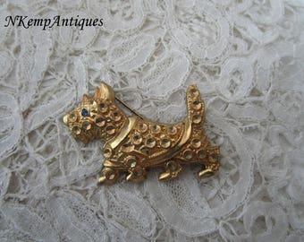 1930's scotty dog brooch