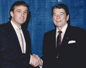 Donald Trump meeting with President Ronald Reagan, 1980's, Photo