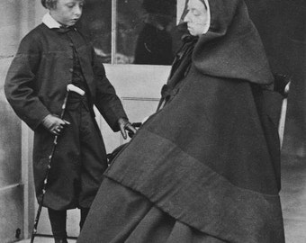Queen Victoria and Prince Leopold, England, 1862, Photo Reproduction