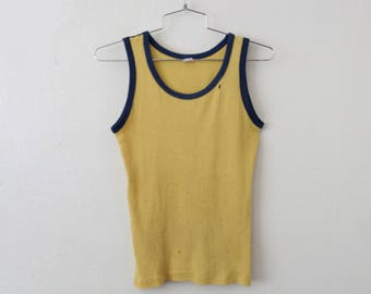 Vintage MEDIUM (Lean/Stretchy) 1970s Ribbed Tank Top