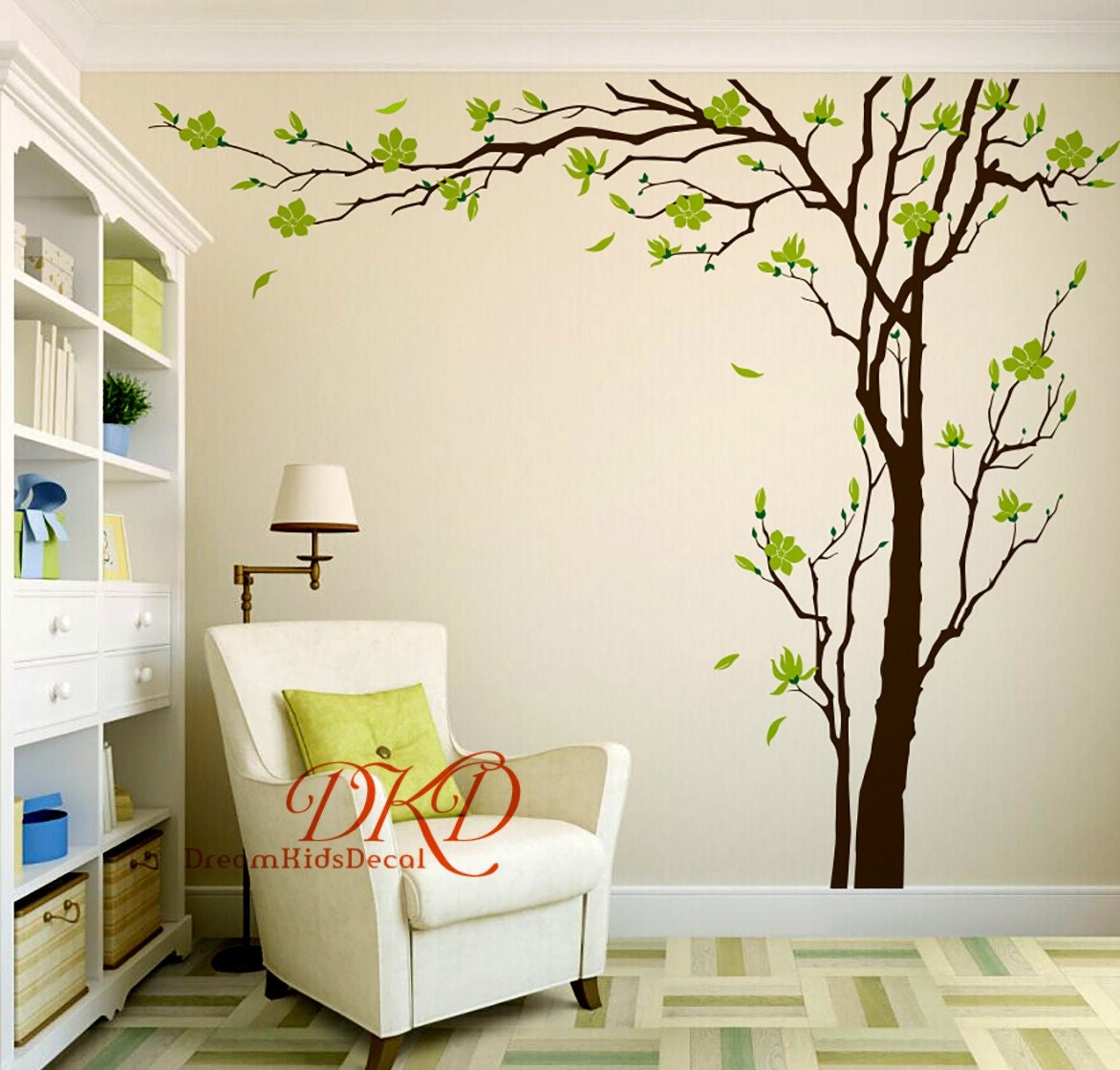 Cherry Blossom Tree Wall Decals Wall Sticker Living Room Wall