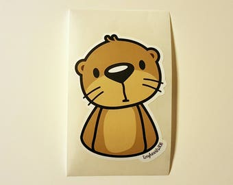 "Sea Otter Sticker Cute Kawaii 2.15"" x 3"""