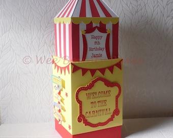 Circus, Fun & Games Carnival Centrepiece/Gift Box/Cake Topper