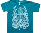 Octopus Kid T shirt, youth sizes 2-12, gifts for kids, boys gifts, girls gifts, kids clothes, octopi, cephalopod, octopus squid