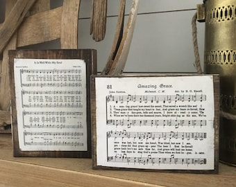 Vintage Wood Block Hymns