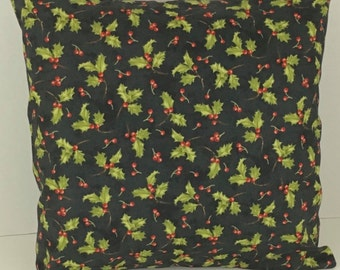 Holly Christmas Pillow Cover