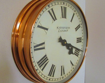 1940/50s Synchronome  Vintage Copper Electric Wall Clock