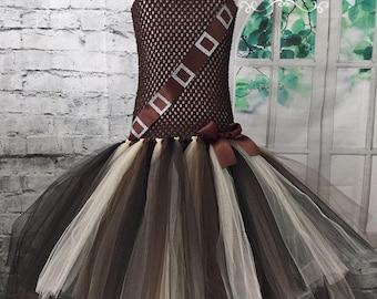 Chewbacca tutu dress. Chewbacca dress. Chewbacca costume. Ribbon tutu dress. Ribbon dress. Star Wars wedding. Warrior costume.
