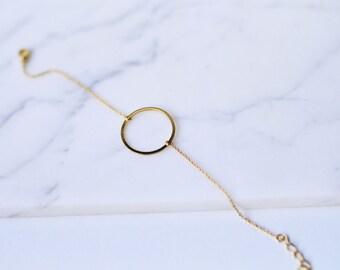 Circle Bracelet, Layering Bracelet, Karma Bracelet,  Dainty Bracelet, Delicate Bracelet