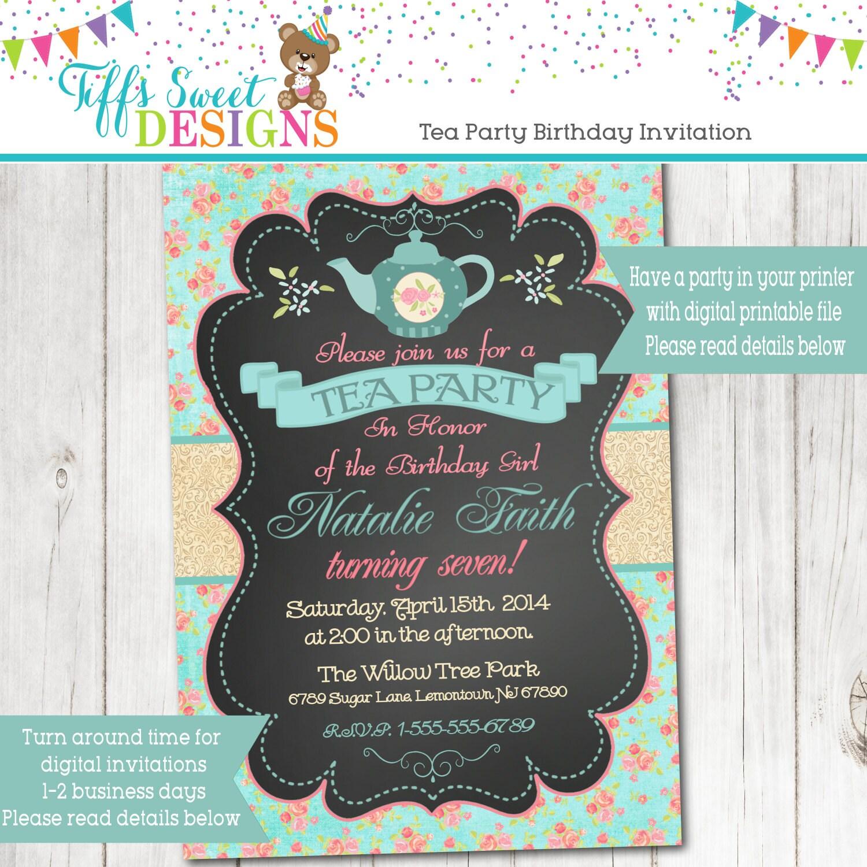 Bridal shower tea – Bridal Shower Tea Party Invites