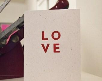 NEW LOVE design letterpress wedding anniversary valentines card
