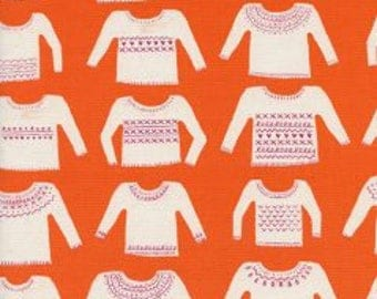 My Favorite Sweater in Orange- Cozy- Alexia Abegg for Cotton and Steel