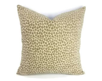Gray Animal Print Chenille Pillow Cover