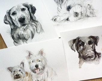DOG PORTRAIT, dog watercolor,pet portrait, dog painting, custom pet painting, custom pet portrait, dog portrait artist, dog cat watercolor,