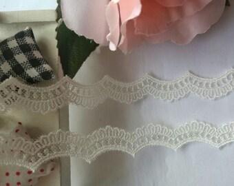 Wholesale lot 20yards ivory  Lace trim DIY Sewing craft  dress doll 1cm
