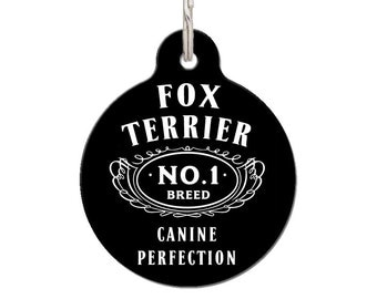 Fox Terrier Breed Dog ID Tag | FREE Personalization
