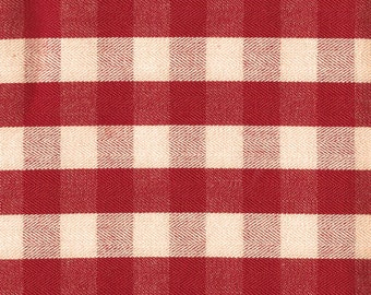 Moda Classics - Red Cream Twill Check - Two Piece Bundle