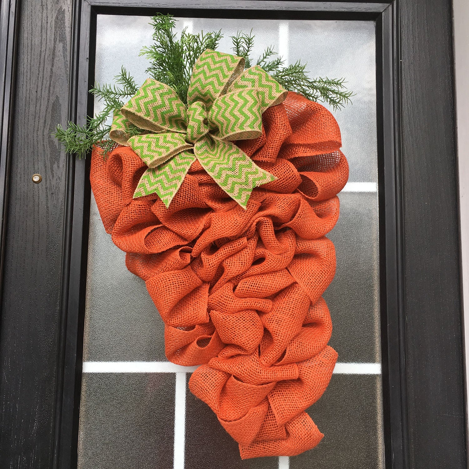 Easter Wreath Carrot Wreath Burlap Easter Carrot Door