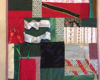 Christmas Gift Fidget Quilt  / Sensory Blanket / Busy Blanket / gift for restless hands