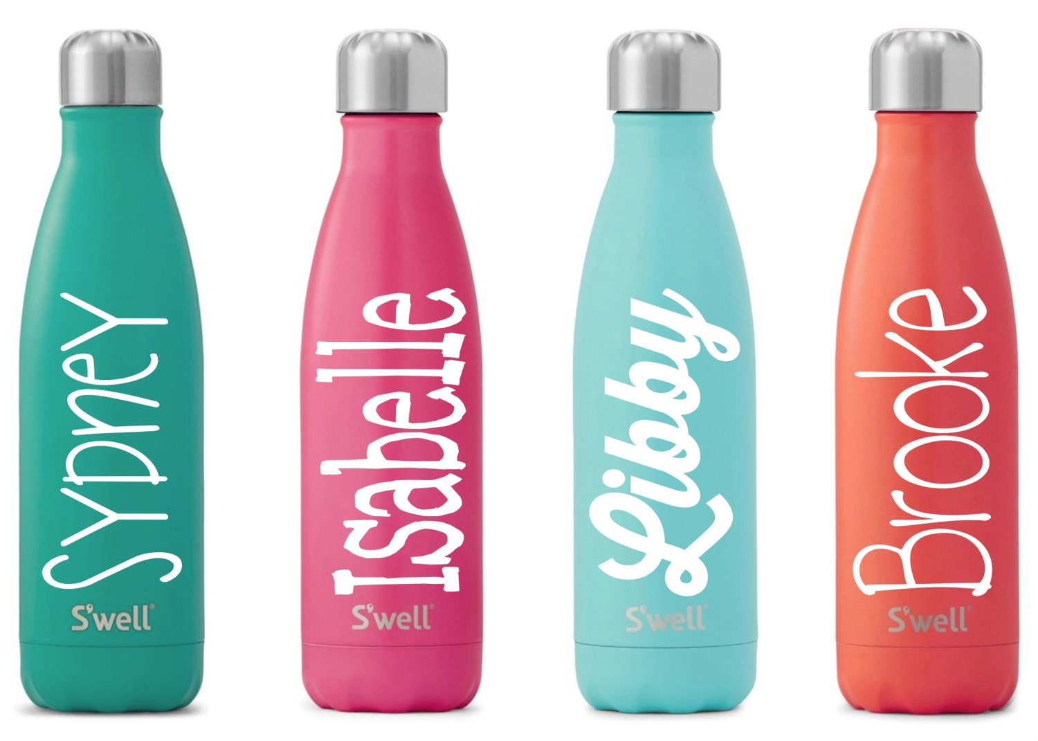 s u0026 39 well water bottle with personalized custom name satin