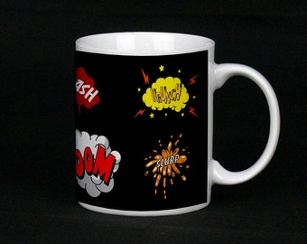 Black Comic Book Lover Mug