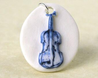 Fiddle Violin necklace.
