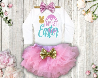 1st Easter Outfit Baby Girl Easter Outfit My 1st Easter Girl Outfit Easter Shirt Easter Bodysuit Pink Easter Outfit Squishy Cheeks