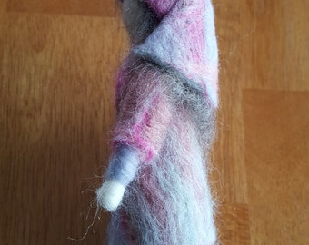 Needle Felted Wool Peasant Girl