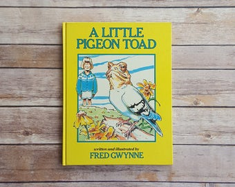 Homonym Kids Book A Little Pigeon Toad English World Play Children's Fiction Book 1980s Vintage Story Unique Gift Nerdy Kids Book Animals