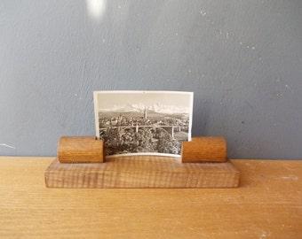 Photo FRAME / Wooden Standing / Photo Display / Art Noveau / Made in USSR / Picture Frame / Art Deco / Vintage Frame