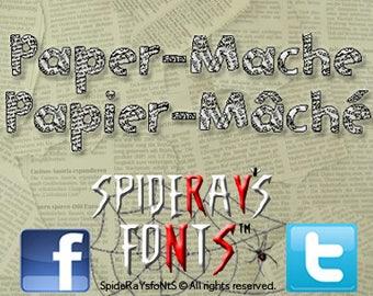 PAPER MACHE Commercial Font