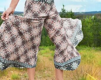 Super Comfortable Wide Leg Pants, Boho Pants, Yoga Pants, Cotton Hippie Pants, Festival Harem Pants, Gypsy Pants