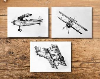 Airplane Nursery Art - Airplane Art - Airplane Nursery Decor - Airplane Decor - Airplane Wall Art - Airplane Wall Decor