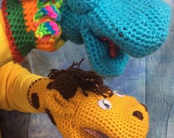 Handmade Crocheted Hand Puppets