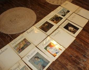 vintage masterpieces mix lot abrams art books 50's