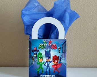 SALE! Small Boxes 3x3x2.5 inches Pj Masks Favor Boxes Pj Masks Favor Bags Pj Masks Popcorn Boxes Pj Masks Party Favors
