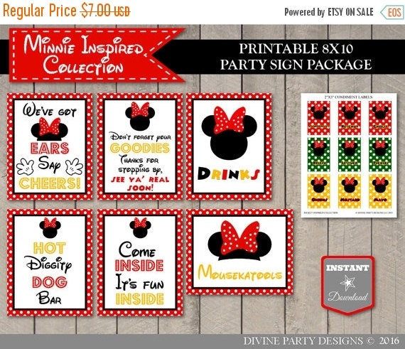 image about Hot Diggity Dog Bar Free Printable referred to as 15 Off Coupon Upon Sale Quick Obtain Mouse Clubhouse 8x10