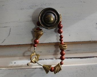 Balance, Red Jasper Gemstone Bracelet