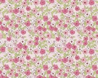 Riley Blake -Wonderland 2 Floral C5771 Pink - Bunnies, Easter, Quilt, Clothing, Crafts