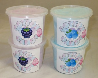 Eighteen (18) Cotton Candy Tubs - Pick Your Flavor - Fresh Made